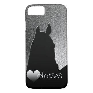 Capa iPhone 8/7 Cavalos do coração mim (caso do iPhone 7 do