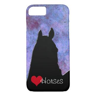 Capa iPhone 8/7 Cavalos do coração mim coração vermelho