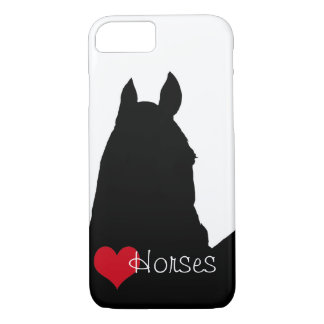 Capa iPhone 8/7 Cavalos do coração mim (fundo branco)