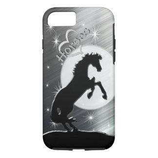 Capa iPhone 8/7 Cavalos do coração V (linhas de prata)
