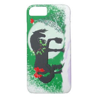 Capa iPhone 8/7 Cavalos do coração VI (árvore do feriado)