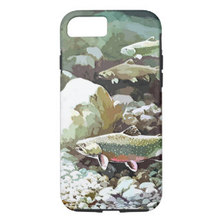 Capa iPhone 8/7 Cena subaquática da pesca da truta