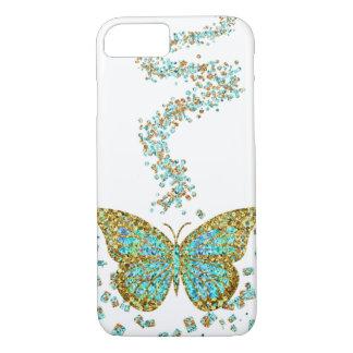 Capa iPhone 8/7 Cerceta de cristal da hortelã dos confetes do