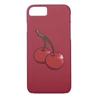 Capa iPhone 8/7 Cerejas da cereja no vermelho