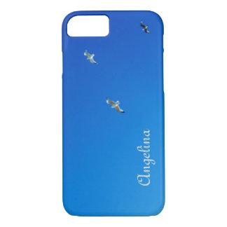 Capa iPhone 8/7 Céu azul e fotografia de Cornualha das gaivota