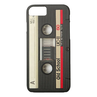 Capa iPhone 8/7 cobrir da cassete de banda magnética da velha