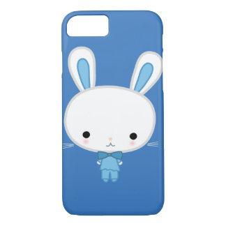 Capa iPhone 8/7 Coelho azul bonito de Kawaii
