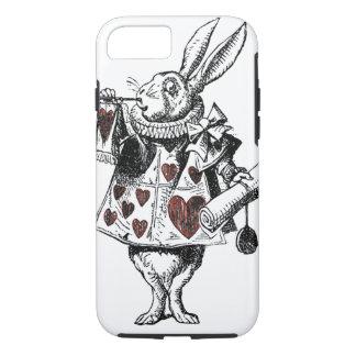 Capa iPhone 8/7 Coelhos brancos dos corações - Alice no país das
