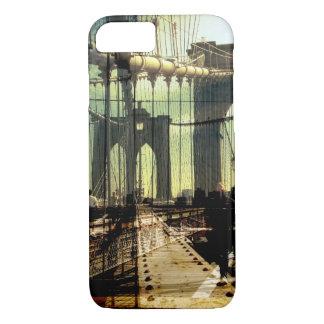 Capa iPhone 8/7 colagem da ponte de Brooklyn, NYC