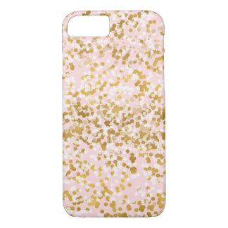 Capa iPhone 8/7 Confetes cor-de-rosa brancos do ouro