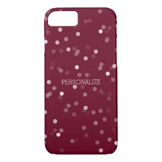 Capa iPhone 8/7 Confetes cor-de-rosa e brancos de Bokeh