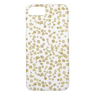 Capa iPhone 8/7 Confetes da aguarela do ouro