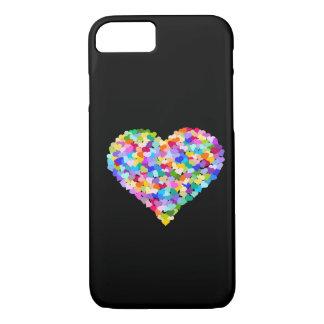 Capa iPhone 8/7 Confetes dos corações do arco-íris