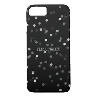Capa iPhone 8/7 Confetes preto e branco de Bokeh