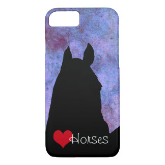 Capa iPhone 8/7 Coração do vermelho dos cavalos III do coração