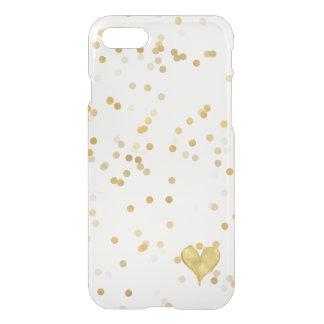 Capa iPhone 8/7 Coração dos confetes do ouro
