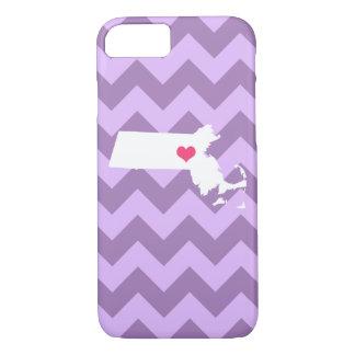 Capa iPhone 8/7 Coração personalizado de Chevron Massachusetts do