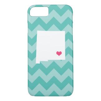 Capa iPhone 8/7 Coração personalizado de Chevron New mexico do