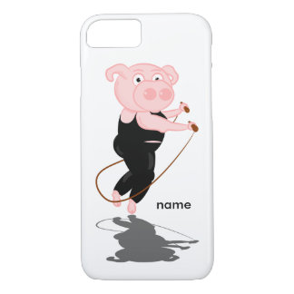 Capa iPhone 8/7 Corda de salto gorda do porco