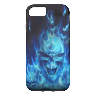 Capa iPhone 8/7 Crânio azul do fogo