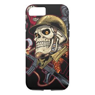 Capa iPhone 8/7 Crânio com capacete, aviões e bombas