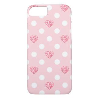 Capa iPhone 8/7 Cristal e lua Pastel do coração