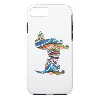 Capa iPhone 8/7 Dachshund psicadélico retro