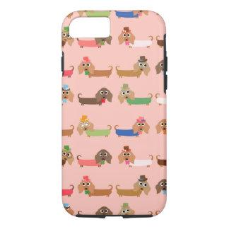 Capa iPhone 8/7 Dachshunds no rosa