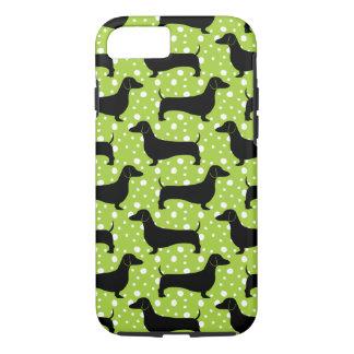 Capa iPhone 8/7 Dachshunds verdes da polca