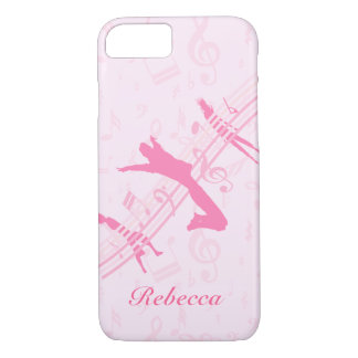 Capa iPhone 8/7 Dança da música e rosa personalizados do drama