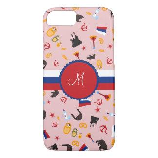 Capa iPhone 8/7 De Rússia com monograma do russo do amor