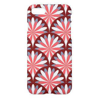 Capa iPhone 8/7 Design retro vermelho da flor