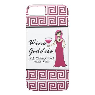 """Capa iPhone 8/7 Deusa do vinho """"que todas as coisas curam com"""