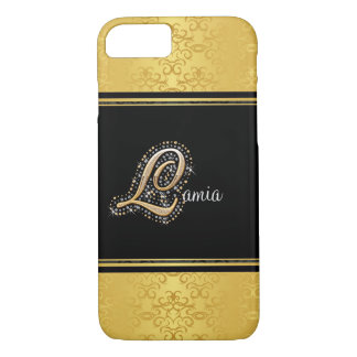 Capa iPhone 8/7 Diamantes elegantes L caso do ouro do iPhone 7 do