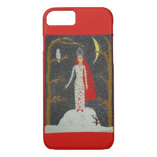Capa iPhone 8/7 Donzela da neve (versão vermelha)