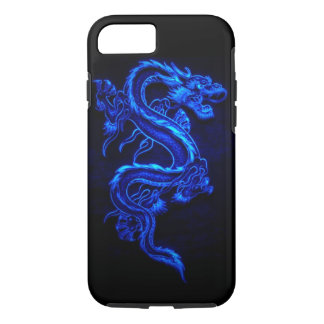 "CAPA iPhone 8/7 DRAGÃO DE NÉON AZUL ""DRAGA """