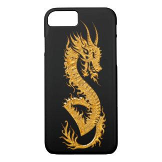 Capa iPhone 8/7 Dragão oriental dourado 02