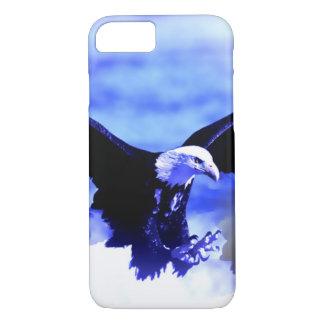 Capa iPhone 8/7 Eagle que aterra a cor azul tonifica o caso do