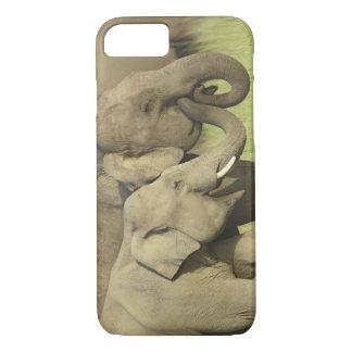 Capa iPhone 8/7 Elefantes indianos/asiáticos que compartilham da