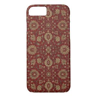 Capa iPhone 8/7 Escarlate persa vermelho da tapeçaria do arabesque