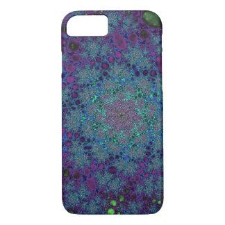 Capa iPhone 8/7 Espaço roxo do abstrato do azul