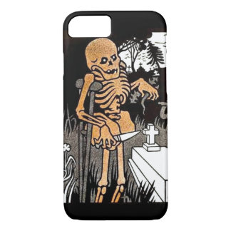 Capa iPhone 8/7 Esqueleto que tende a sepultura