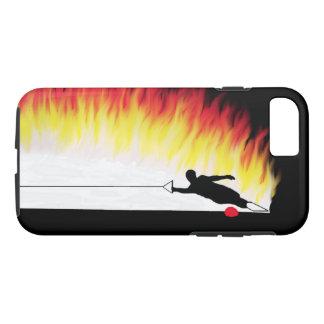 Capa iPhone 8/7 Esquiador da água do slalom com chamas