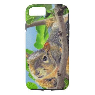 Capa iPhone 8/7 Esquilo do divertimento na árvore