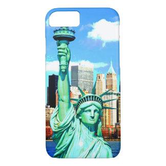 Capa iPhone 8/7 Estátua da liberdade de NewYork eu telefono ao