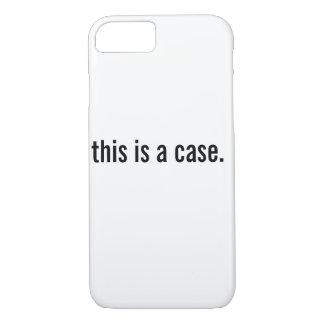 Capa iPhone 8/7 este é um caso