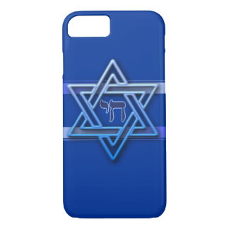 Capa iPhone 8/7 Estrela de David judaica de Chai do hebraico