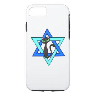 Capa iPhone 8/7 Estrelas judaicas do gato
