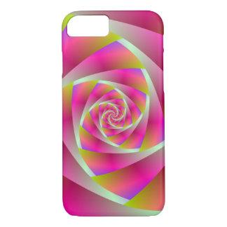 Capa iPhone 8/7 Etapas espirais no rosa e na laranja