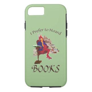 Capa iPhone 8/7 Eu prefiro acumular livros
